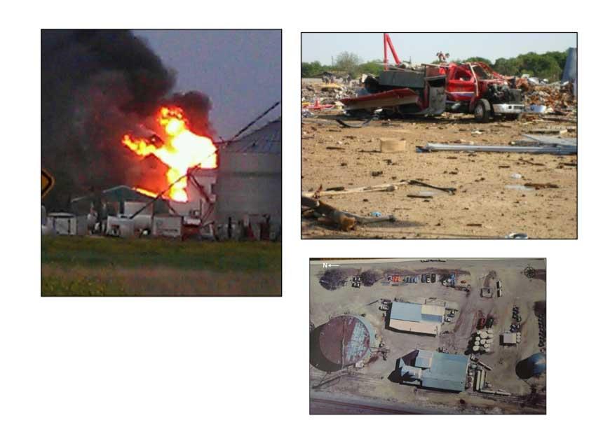 Photos from West fertilizer explosion scene