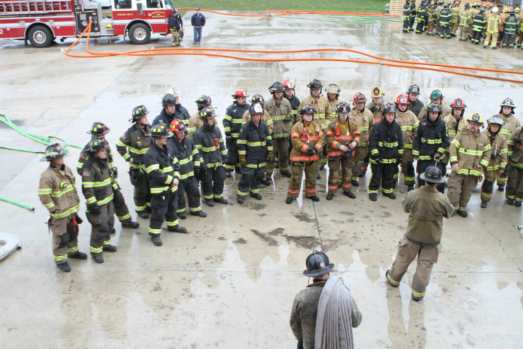 Firefighters training