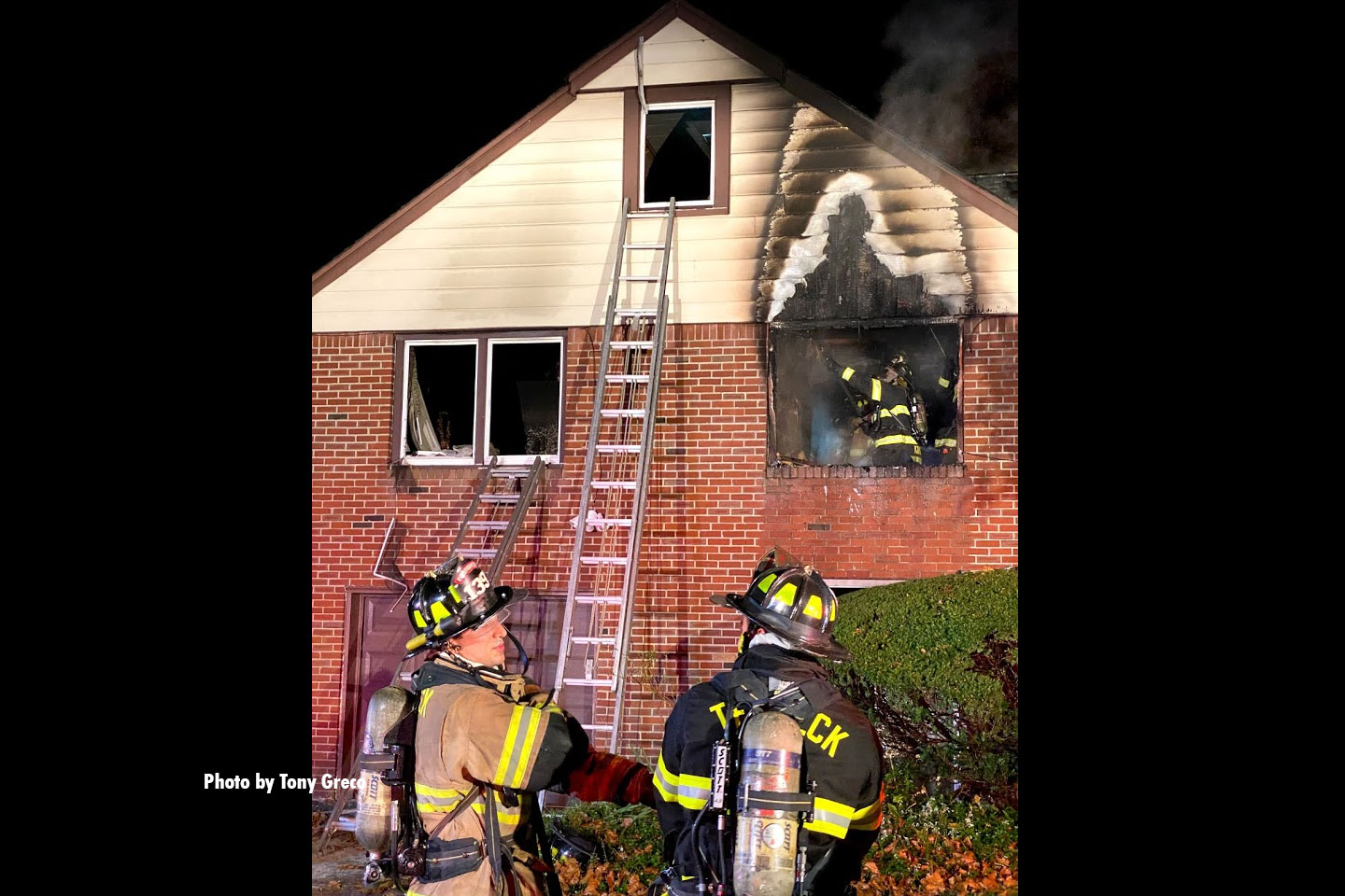 One civilian and one firefighter reportedly sustained injuries in the fire.