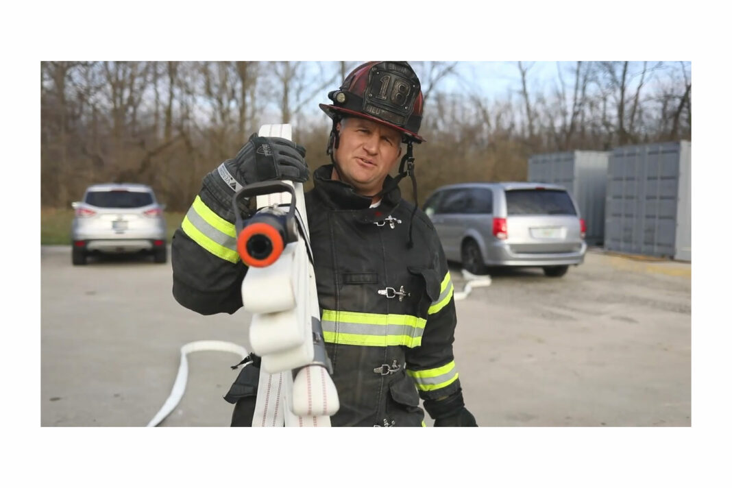 Brian Brush with hose bundle