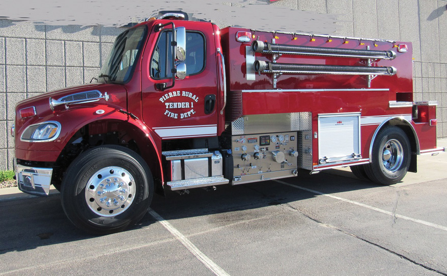 The Pierre (SD) Rural Fire Department has in service this MIDWEST pumper/tanker.
