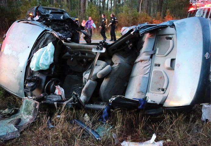 The crash scene on April 16, 2014. [Photo by Virginia Beach (VA) Fire Department Multi-Media Specialist Kirk Kellerhalls.]