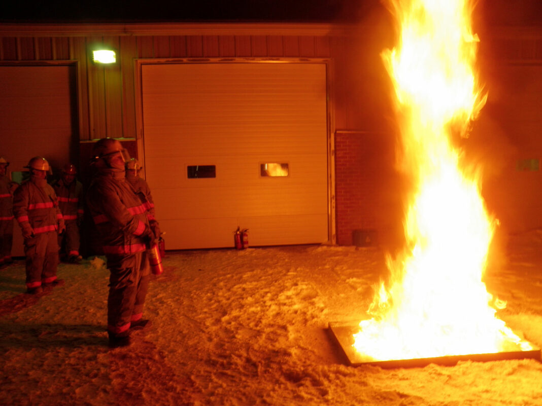 Used for battling Class B fires