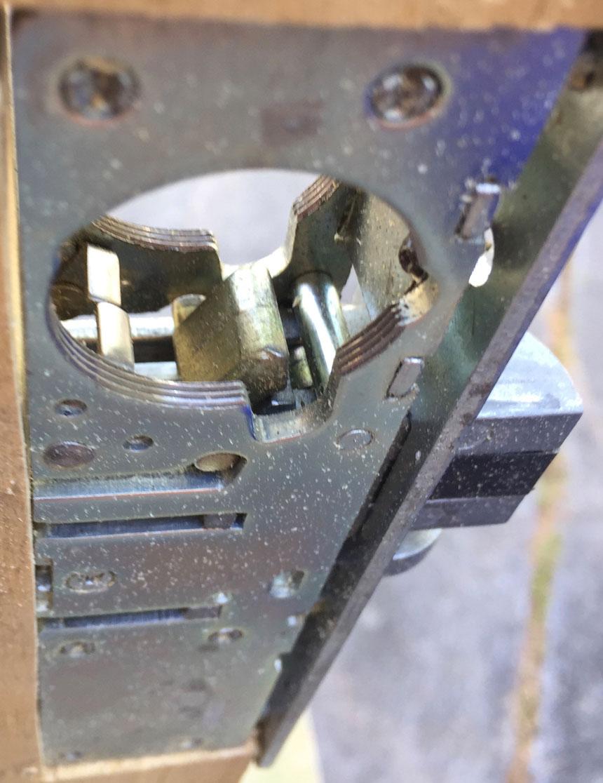 Mortise lock sliding mechanism