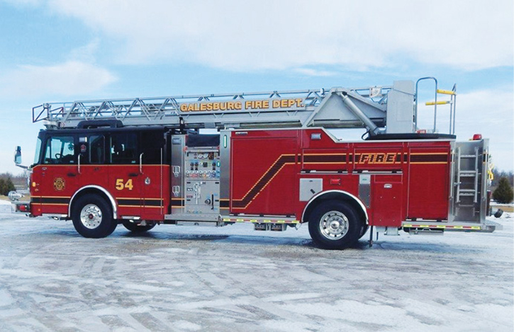 The Galesburg (IL) Fire Department operates this ALEXIS quint.