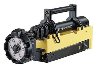 Streamlight® Inc.'s PORTABLE SCENE LIGHT EXT features a pole and rotating head that extends a full 84 inches high.