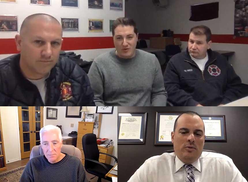 P.J. Norwood, Justin McCarthy, Frank Ricci, Bobby Halton, and Josh Lee