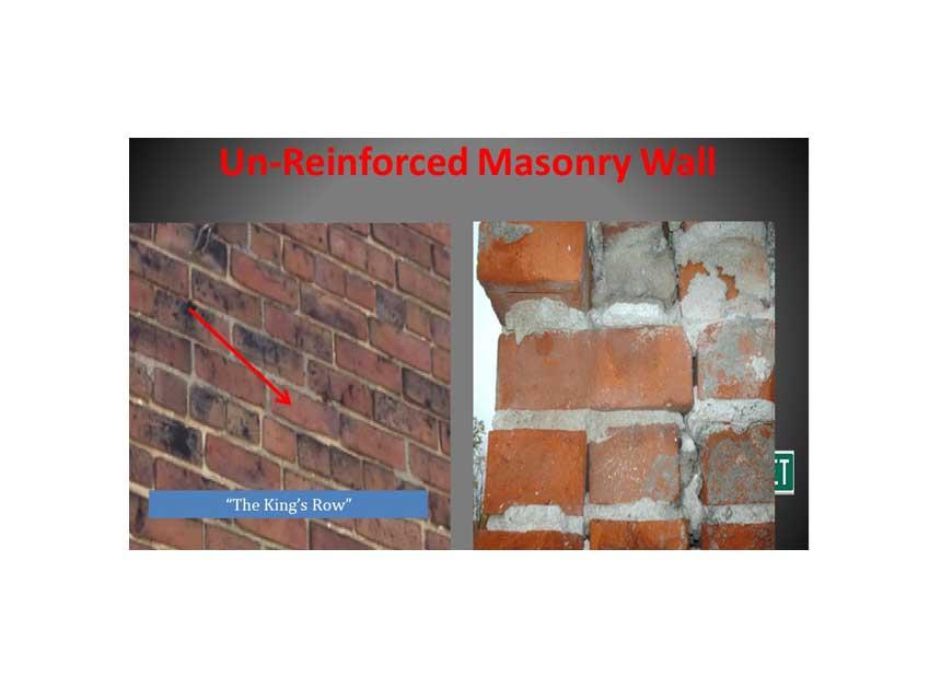 The King's Row in masonry walls