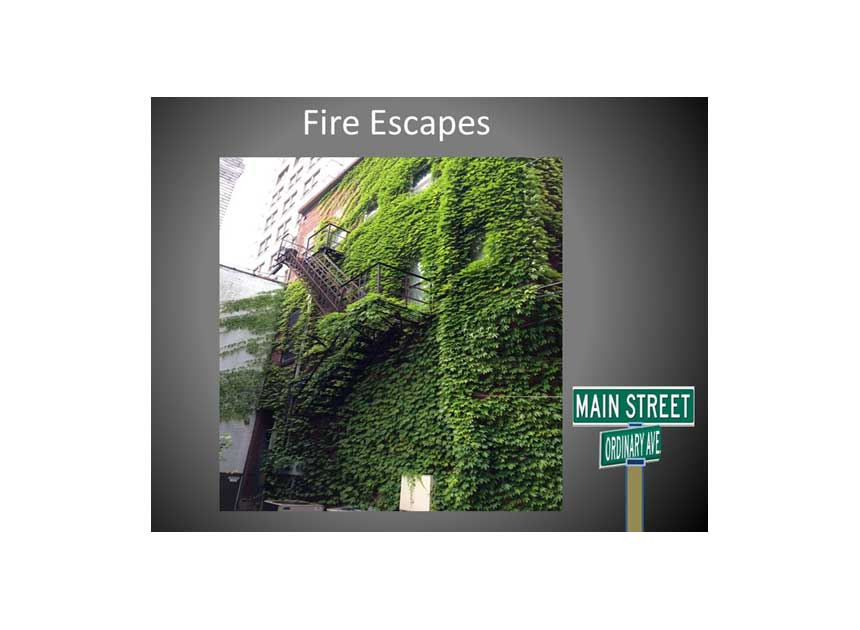 What kind of shape are your Main Street fire escapes in?