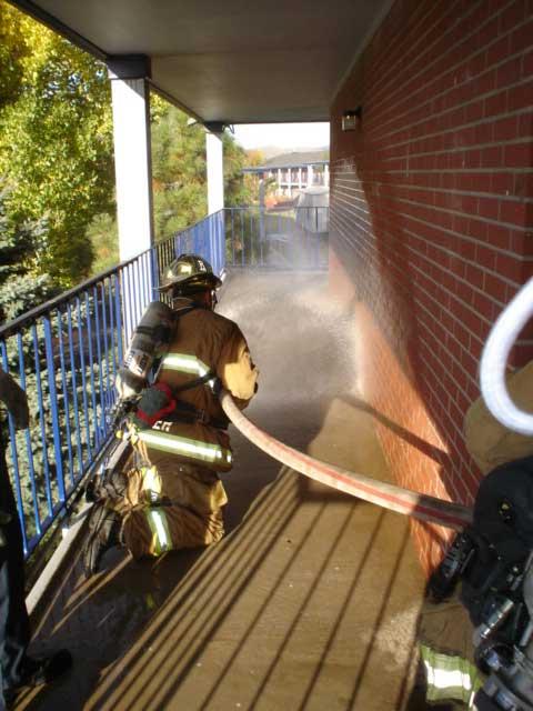 Nozzle use on a porch