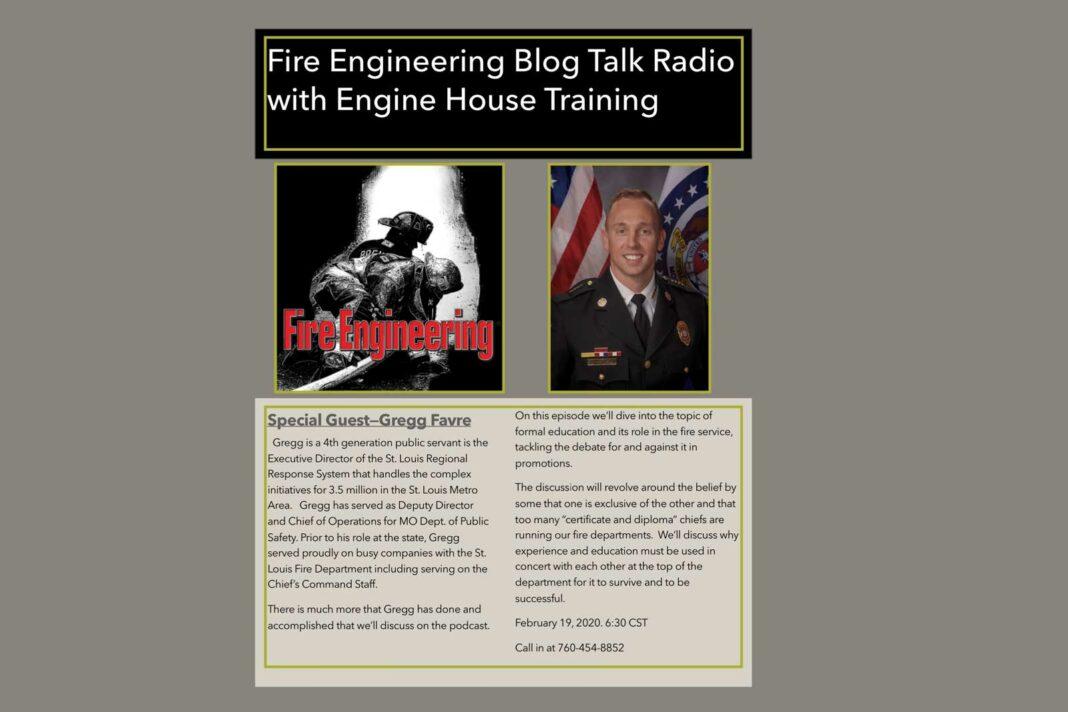 Engine House Training podcast promo with Gregg Favre
