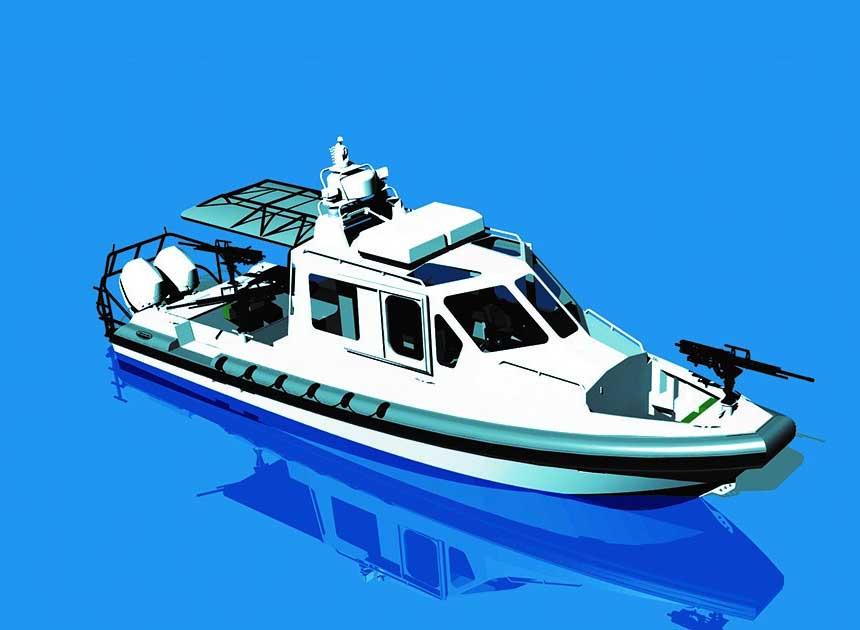 Lake Assault Navy boat