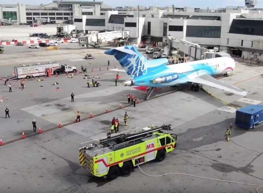 Miami-Dade airport fire drill