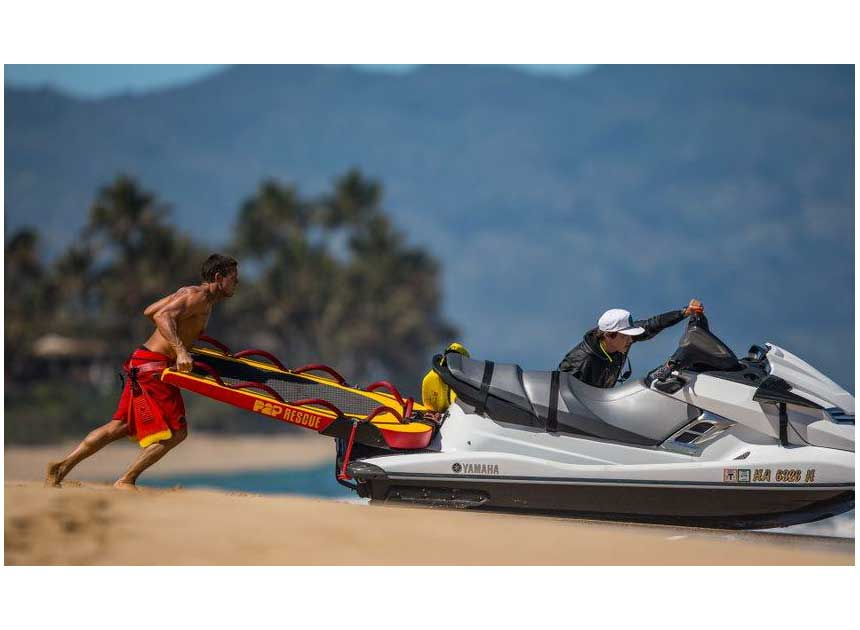 Lauchning a PWC into the surf
