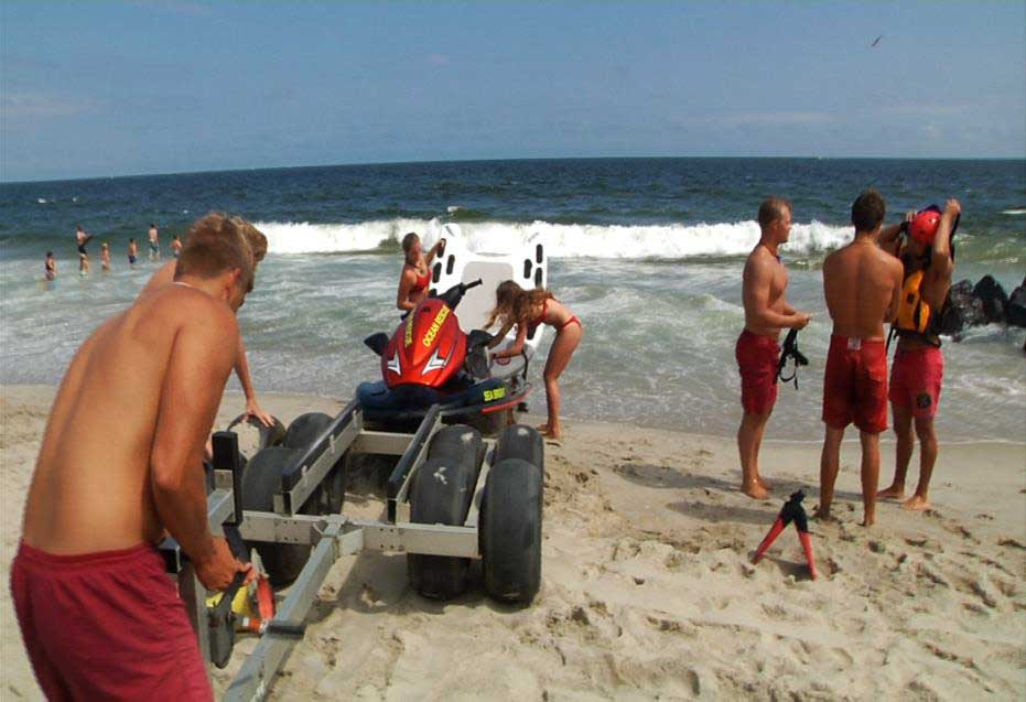 Lifeguards situate the PWC