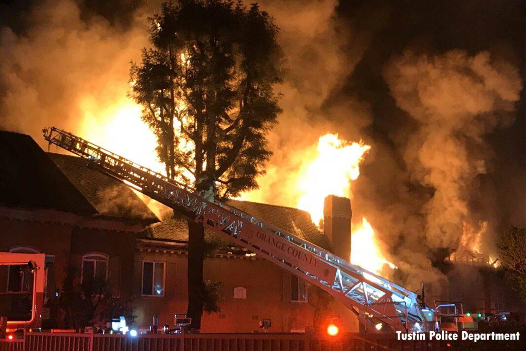 Fire at Tustin (CA) apartment building