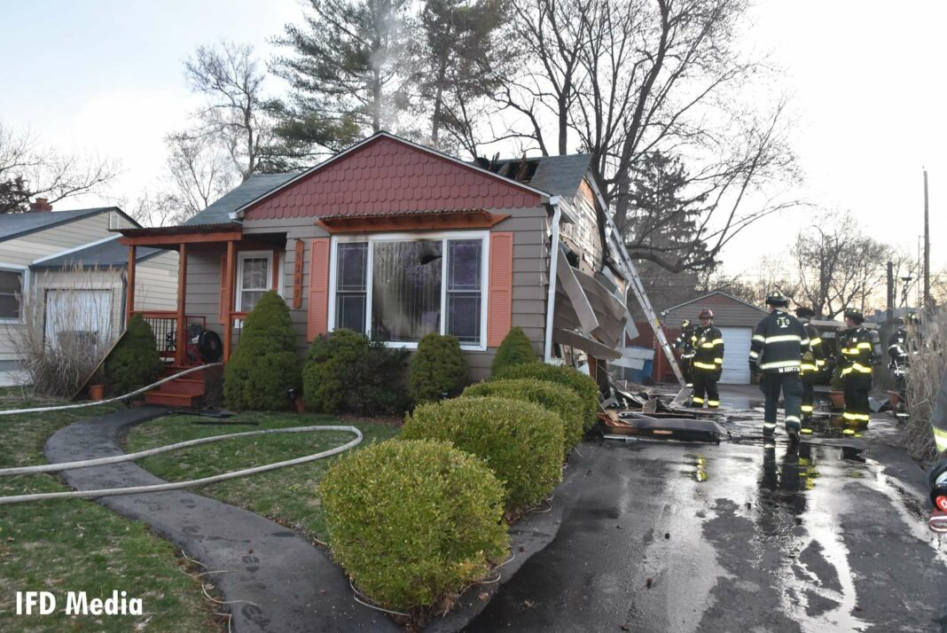 Indy firefighters at the scene of a deadly house fire