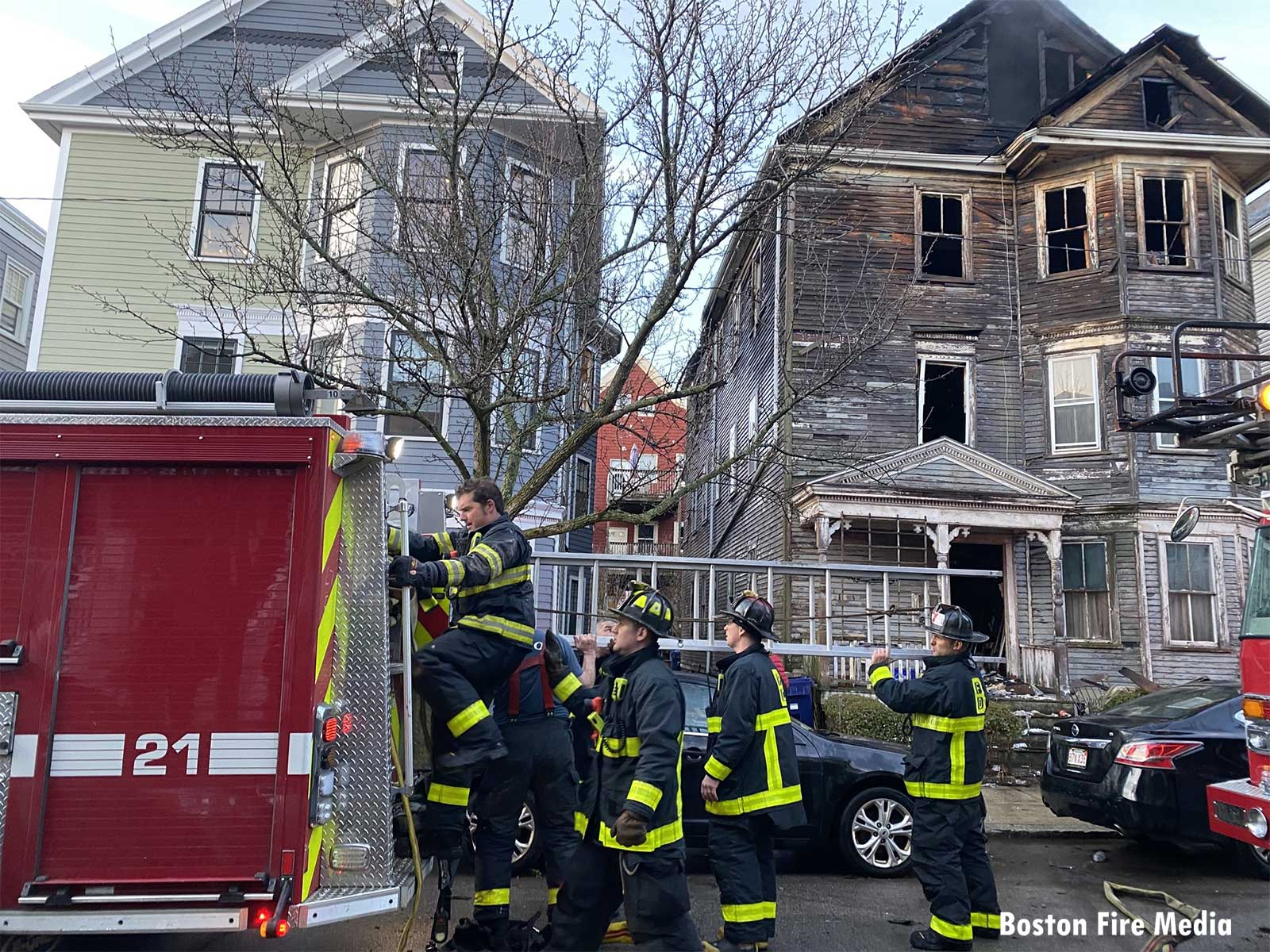 Boston firefighters take up after second major Dorchester fire
