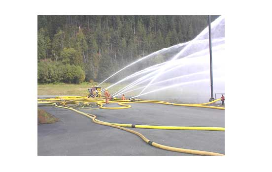 Single engine company delivering water