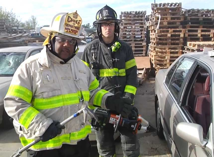 New Haven Fire Chief John Alston and company on extrication