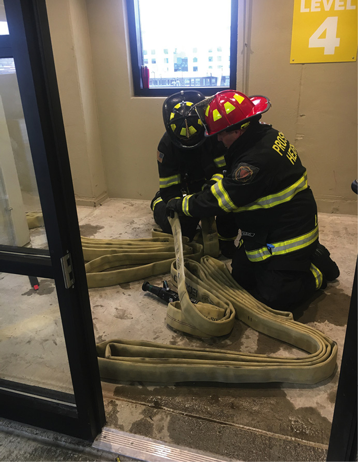 Standpipe operations are the focus of this drill