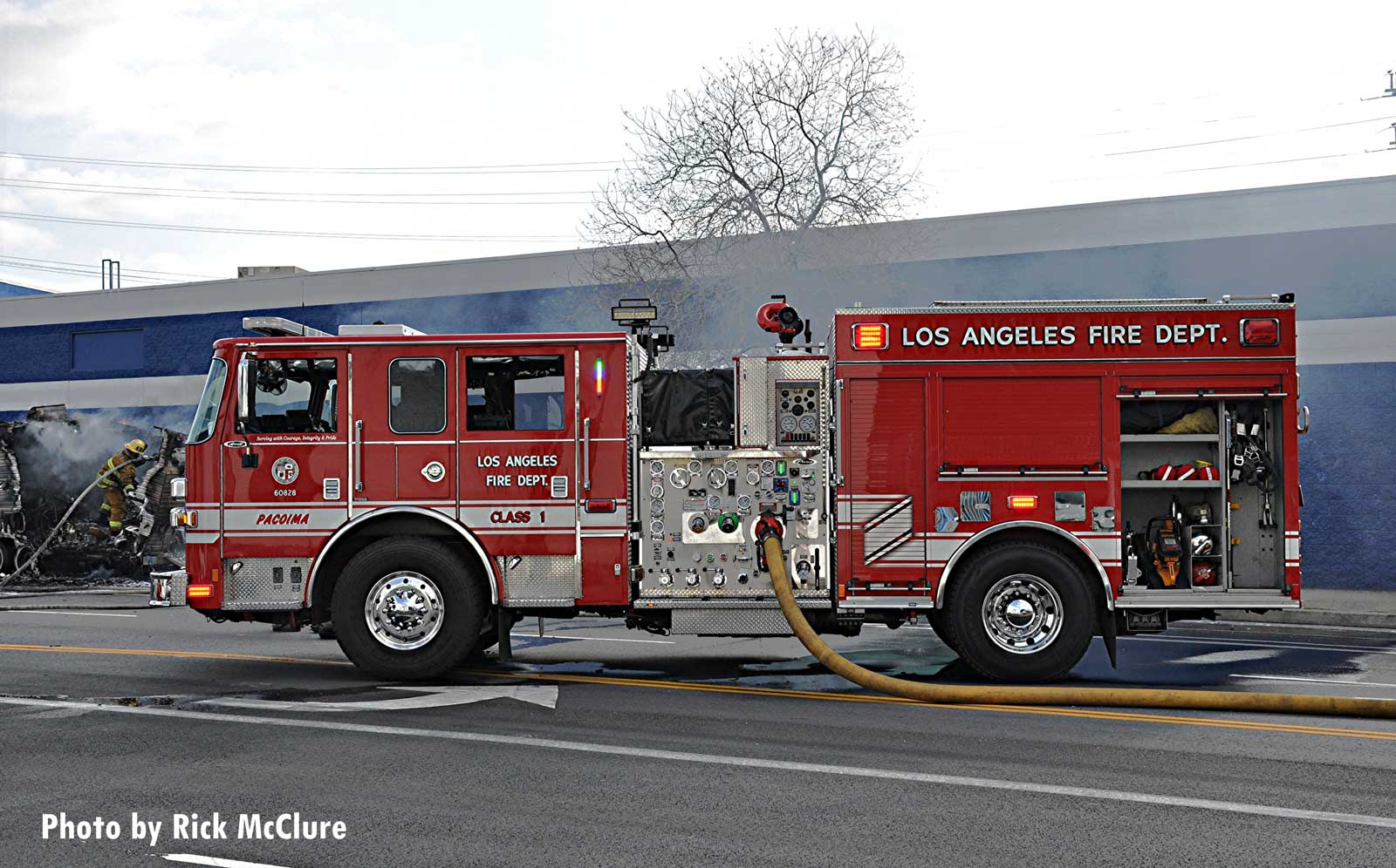 City of Los Angeles Fire Department fire truck