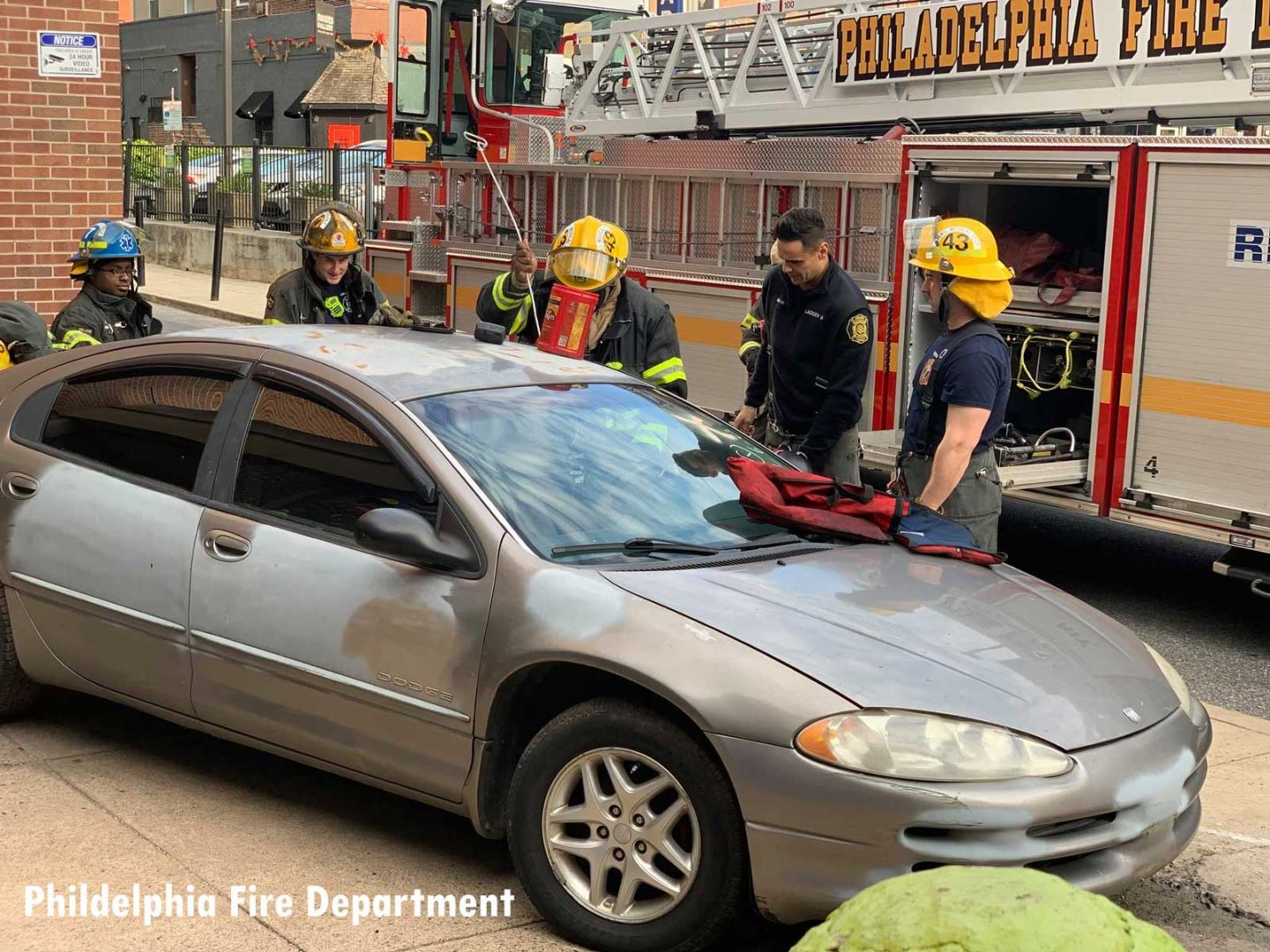 Philly firefighters training on vehicle extrication