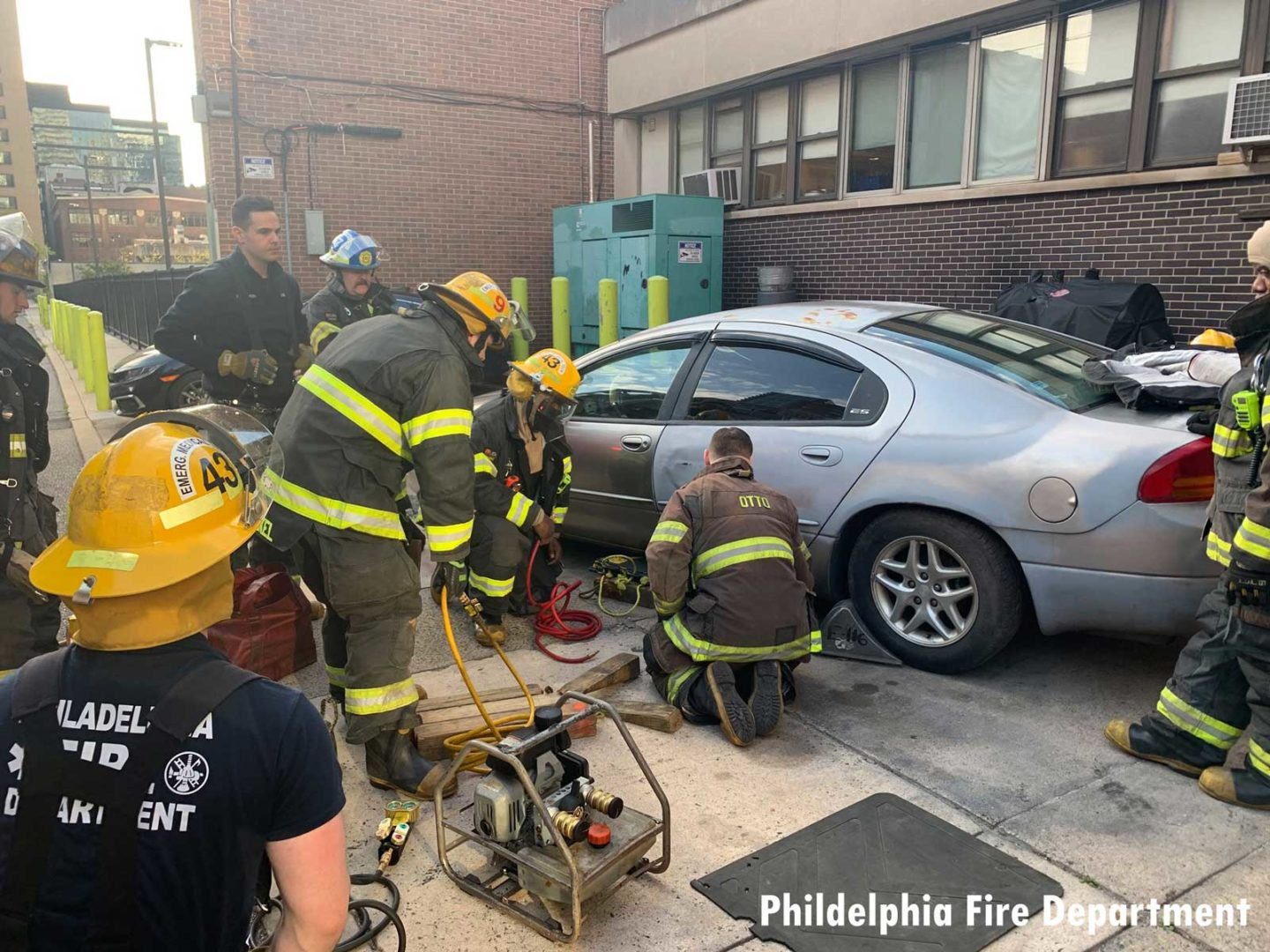 Firefighters training on vehicle rescue in Philadelphia