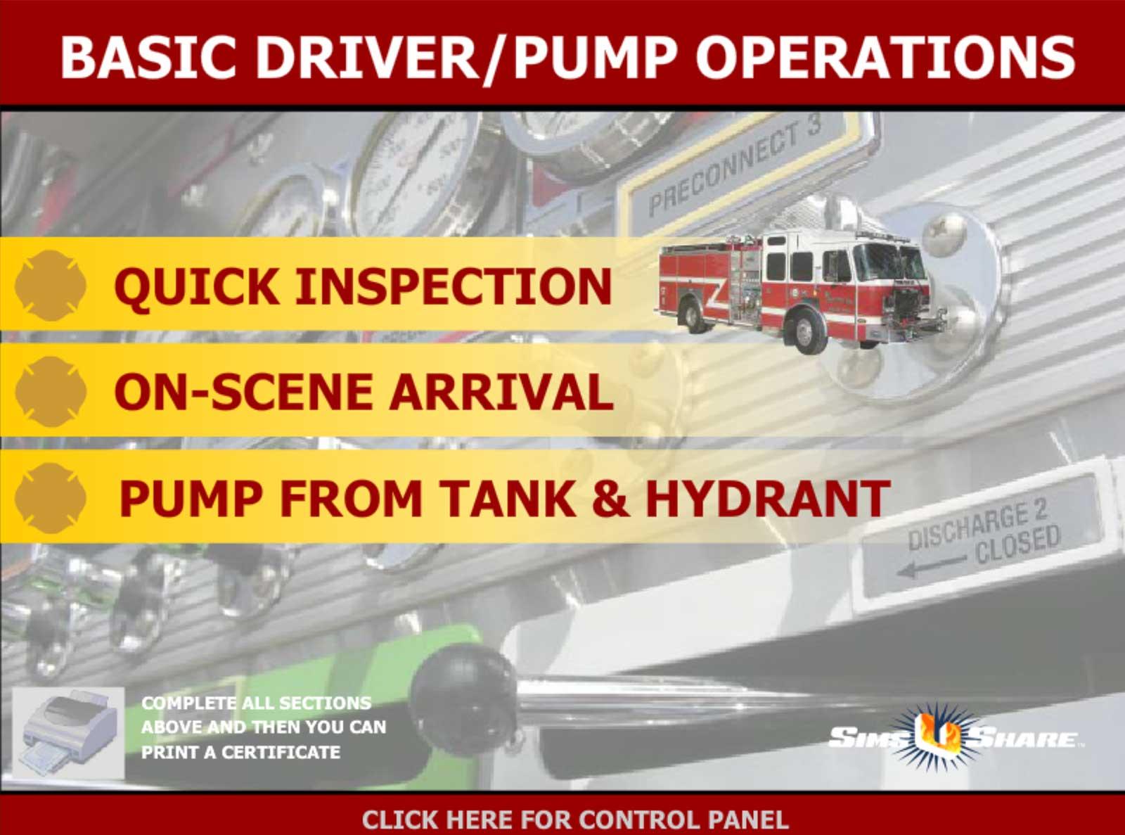 Choices in pump panel sim