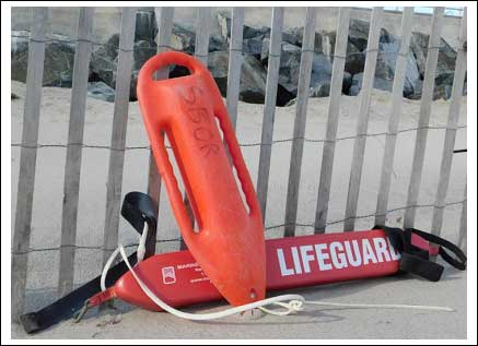 Both the torpedo buoy and rescue tube are considered standard rescue equipment