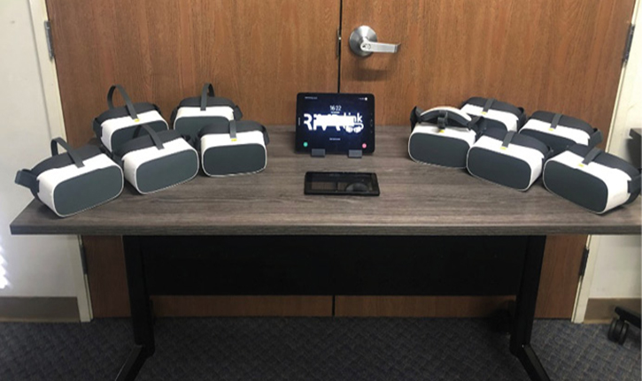 """The innovative technology used by the recruits is called """"Classroom in a Box."""" The collaborative production was made possible through partnerships with W. S. Darley and RiVR (Reality in Virtual Reality), based in Illinois and the United Kingdom, respectively, with 360 Fusion cameras donated by GoPro."""