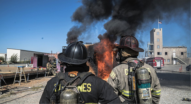 """The """"hottest"""" fire of the day was conducted September 19, 2018"""