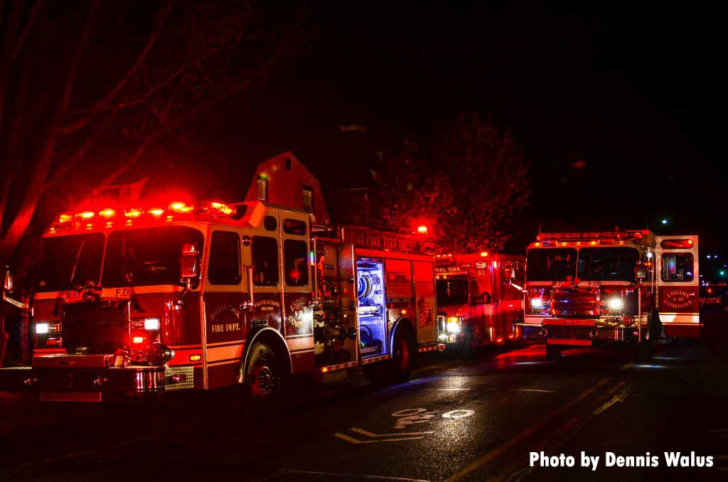 Fire apparatus at a Royal Oak house fire