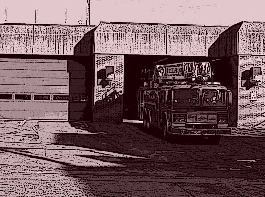Fire station and fire truck