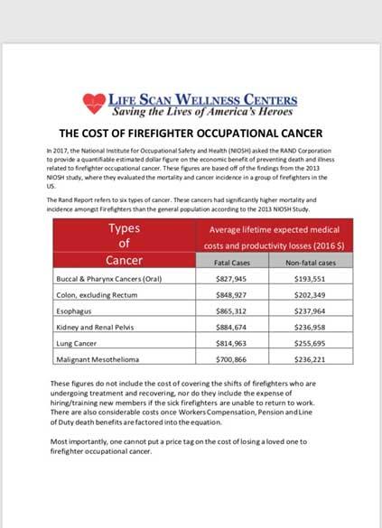 Lifescan firefighter cancer