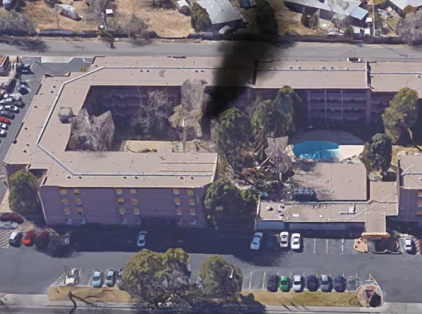 Garden apartment fire