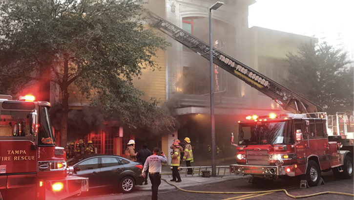Initial attack crews were met with dense smoke almost to the floor on making entry.