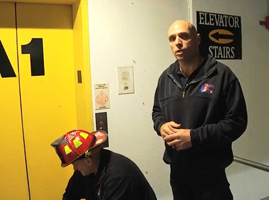 Mike Dragonetti and company on center-opening elevators