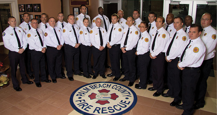 A regional captain's ODA class picture. Several area fire departments are represented in each class.