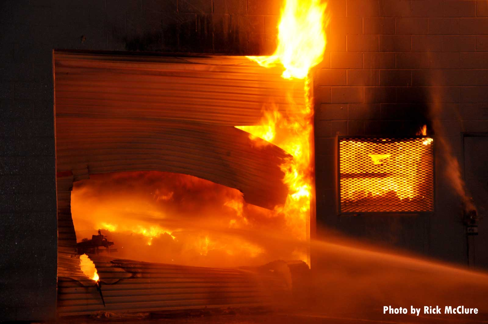 Flames rip through the building