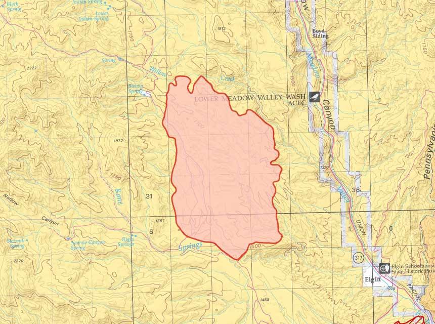 Bishop Fire Map
