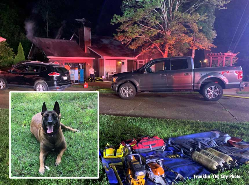 House fire with hero dog in Tennessee