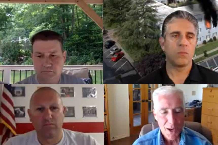 Frank Ricci, Anthony Kastros, P.J. Norwood, and Bobby Halton