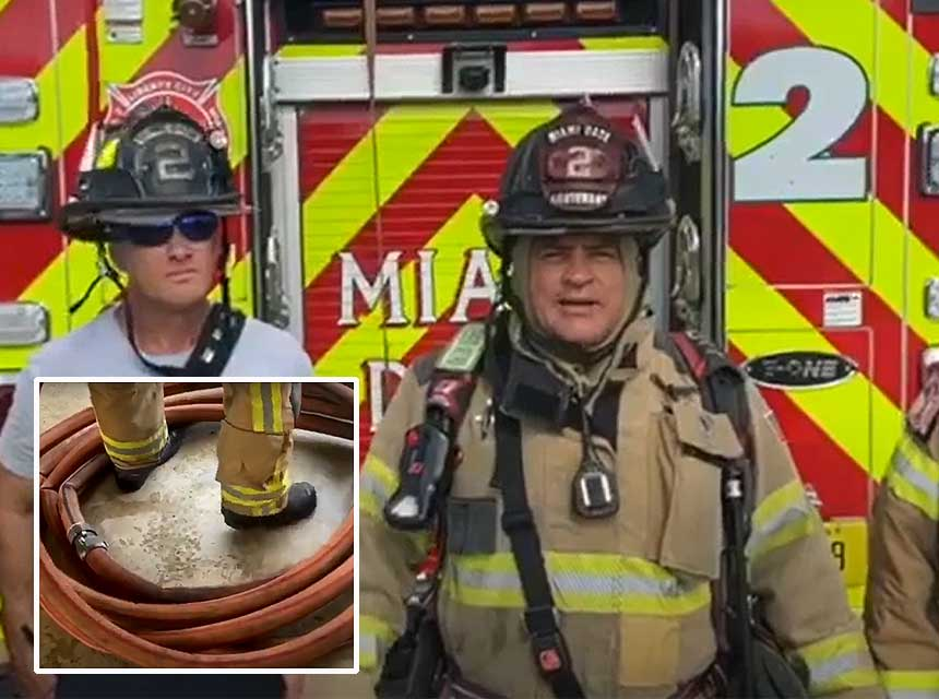 Shane Pyle and company of Miami-Dade Fire Rescue