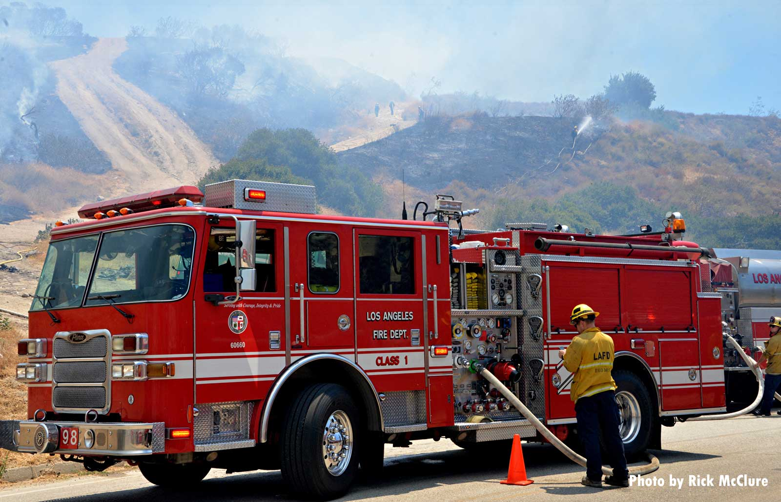 Fire apparatus at California wildfire