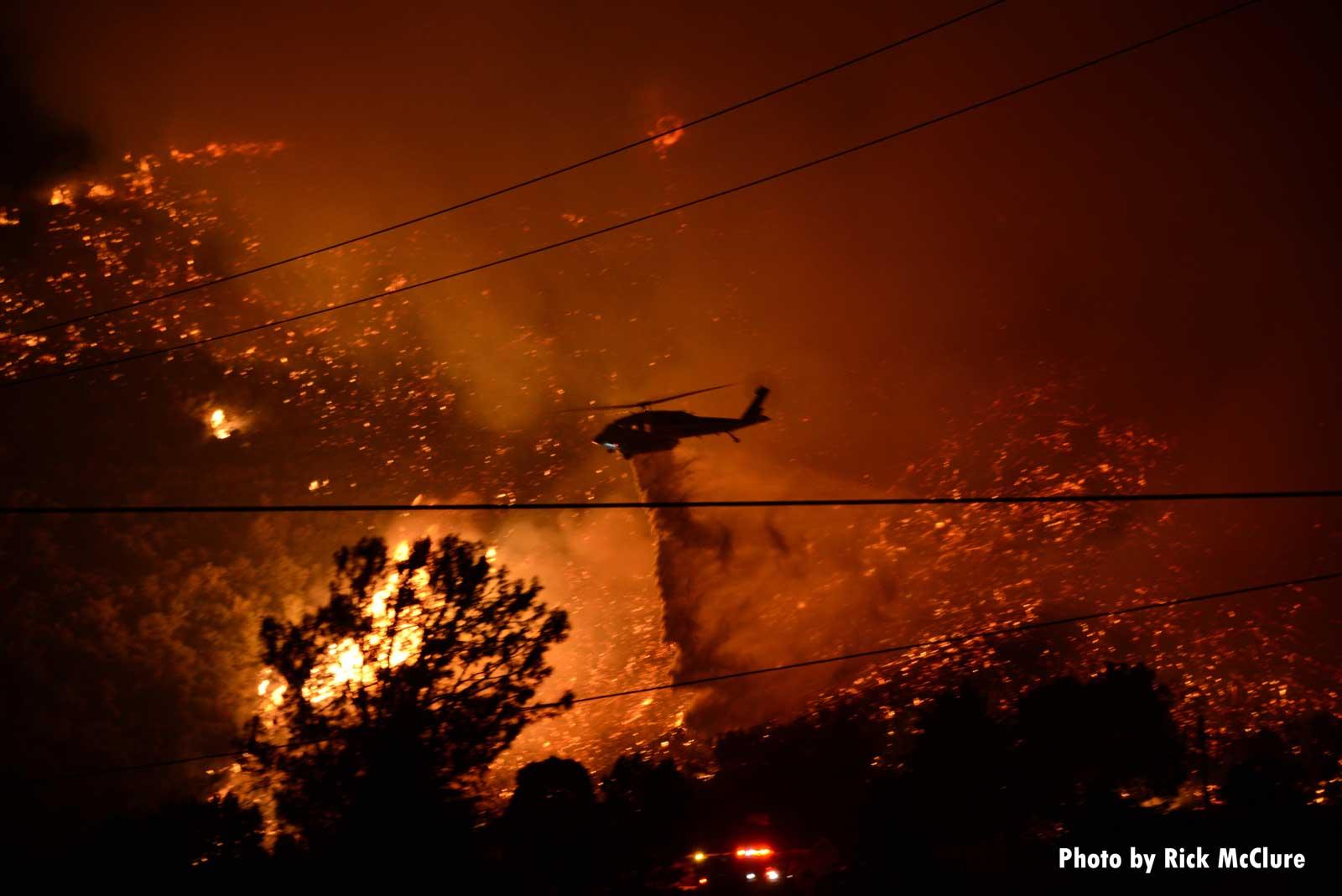 Wildfire burns near Los Angeles