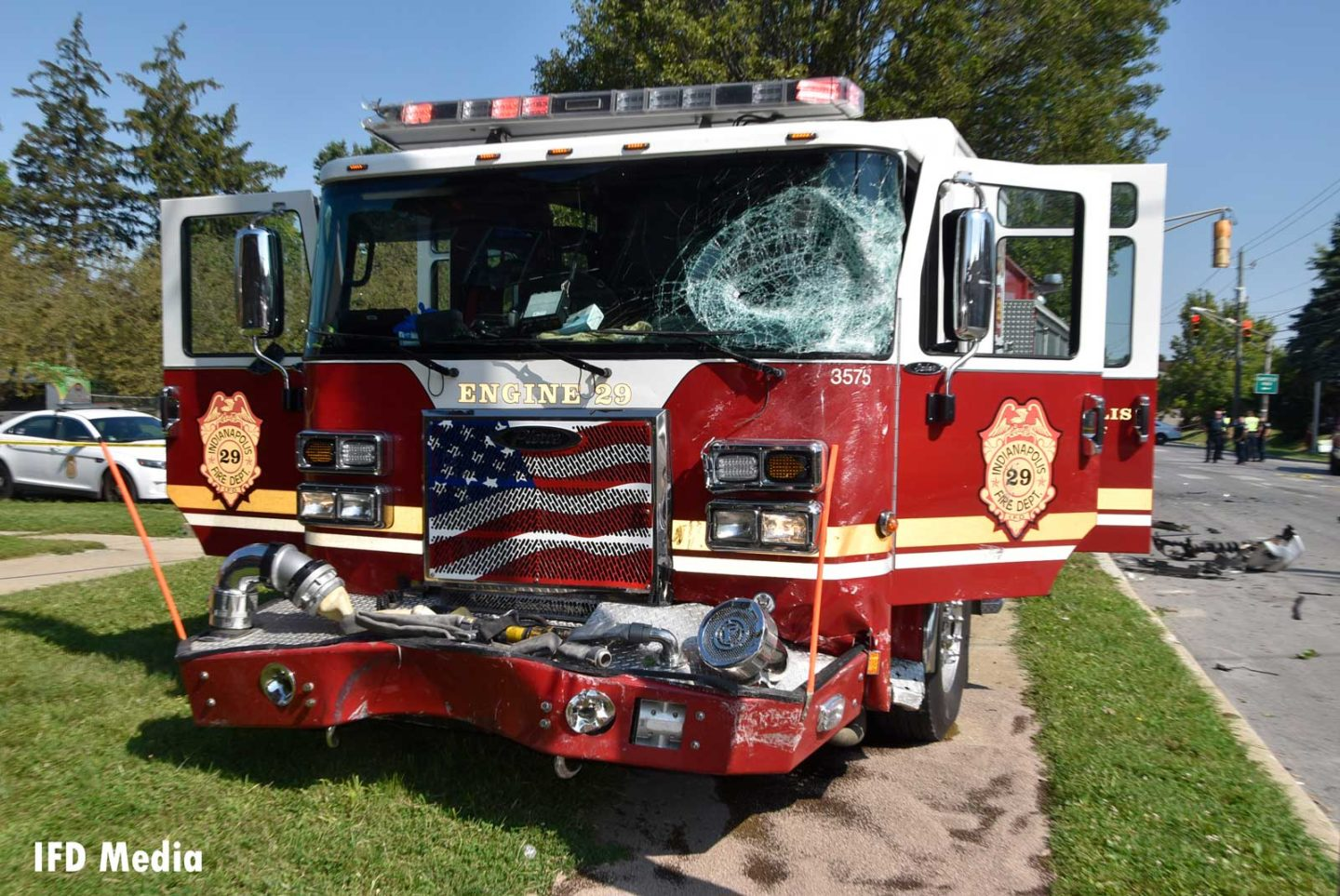 Front of damaged apparatus