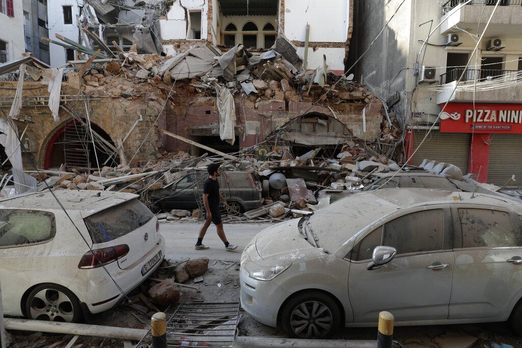 Devastation after Beirut blast