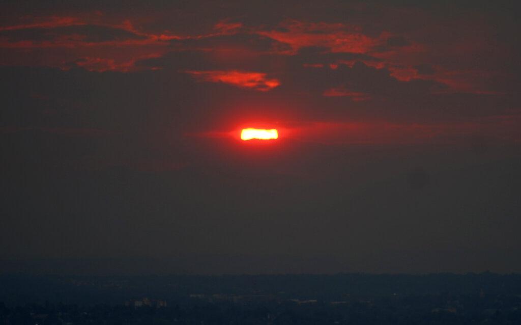 Wildfire haze over Colorado