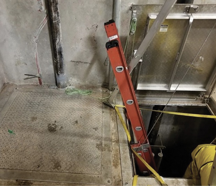 Inspectors access an underground storage pit for an annual inspection in Houston, Texas, in 2019.